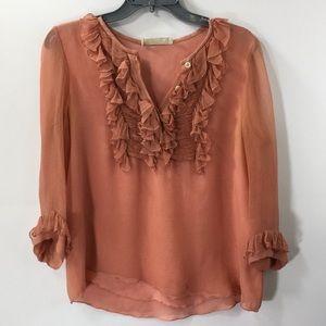 Chloe Pink Half Sleeve Blouse Size L